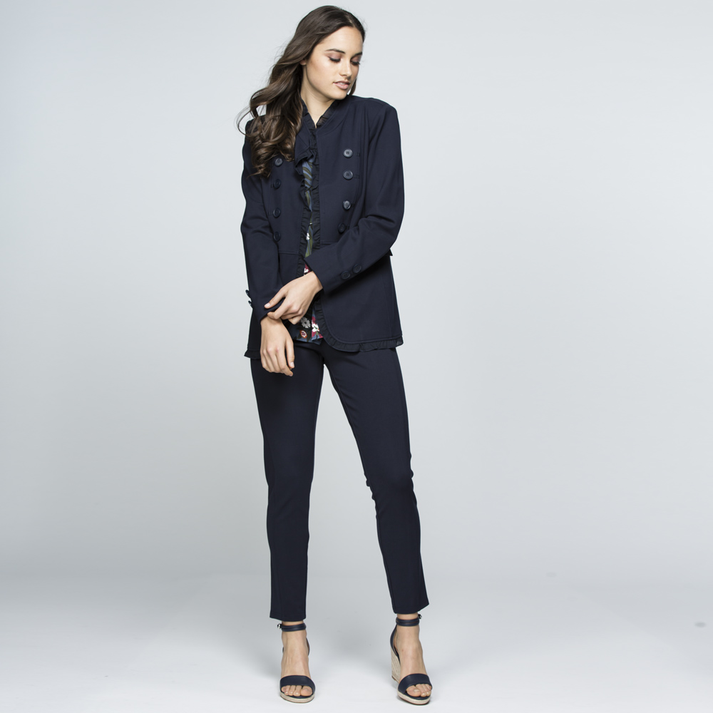 Pull On Ponte Pant in Navy
