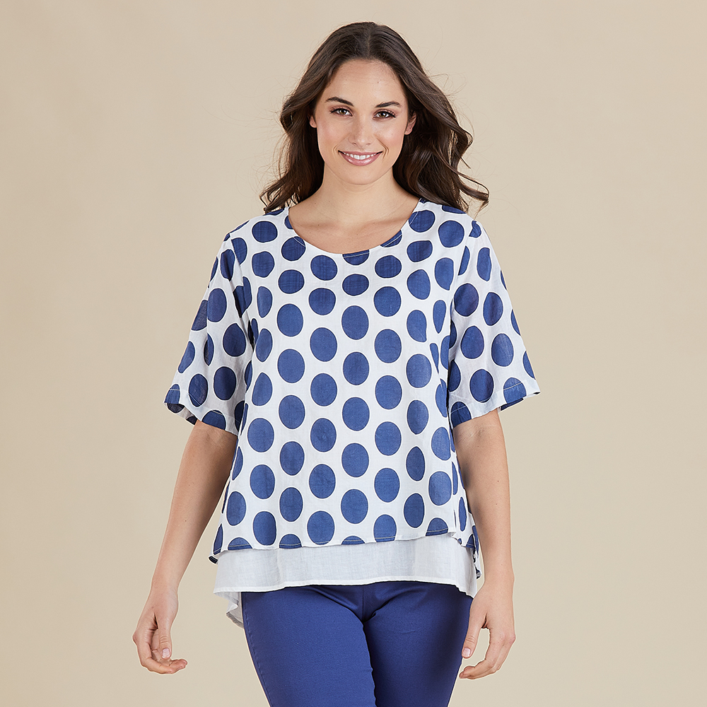 Spot Print 2 in 1 Top by Gordon Smith