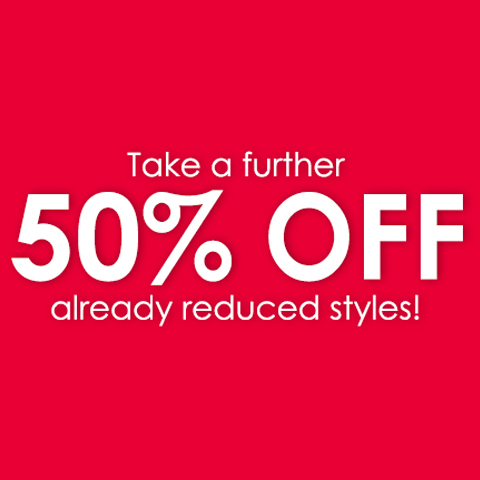 Take a Further 50% OFF Already Reduced