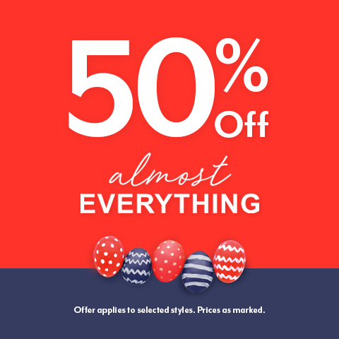 50% OFF Easter Sale