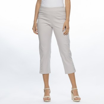 Stretch Cotton Twill Crop Pant
