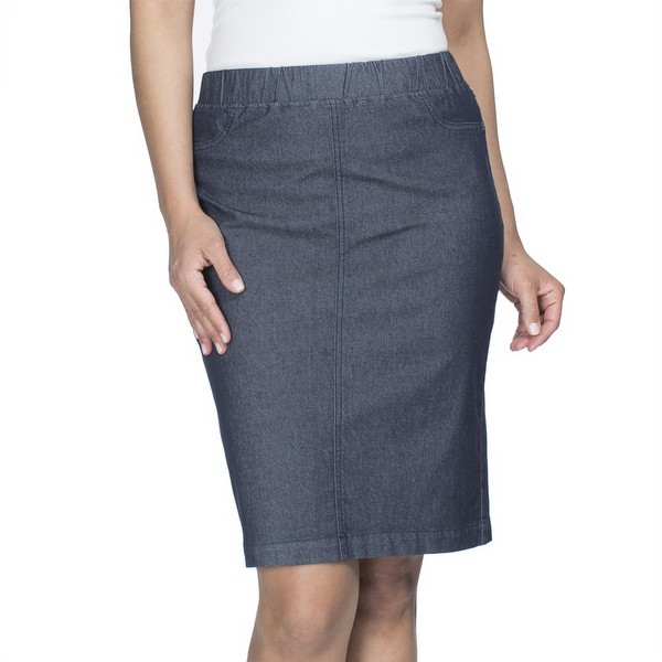 New York Denim Pull on Skirt
