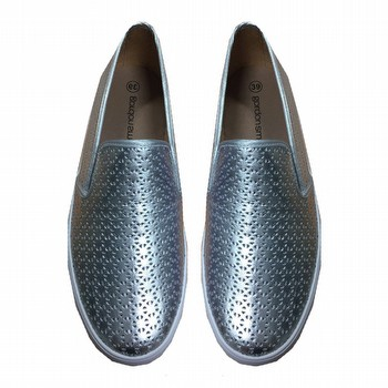 Metallic Leather Loafer