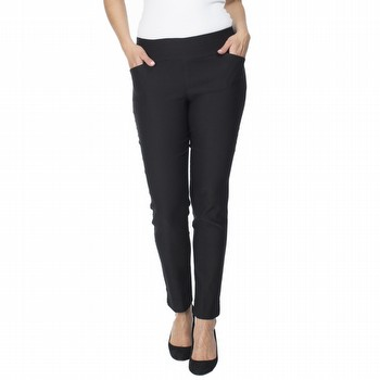 The Super Stretch Pant by Gordon Smith are made from a new techno stretch fabric                                                                                 creating a smoother silhouette. Easy to wear, with a wide elasticated waist                                                                                      band, slash pockets and straight legs with a hem split, these pants have a                                                                                       a slight sheen and an ankle length finish on most. Perfect for the office or any                                                                                 of your more smart casual occasions you can pop them on at a moments notice                                                                                      for a great look everytime. Available in Black and Navy. Model wears Size S and                                                                                  stands 178cm tall.