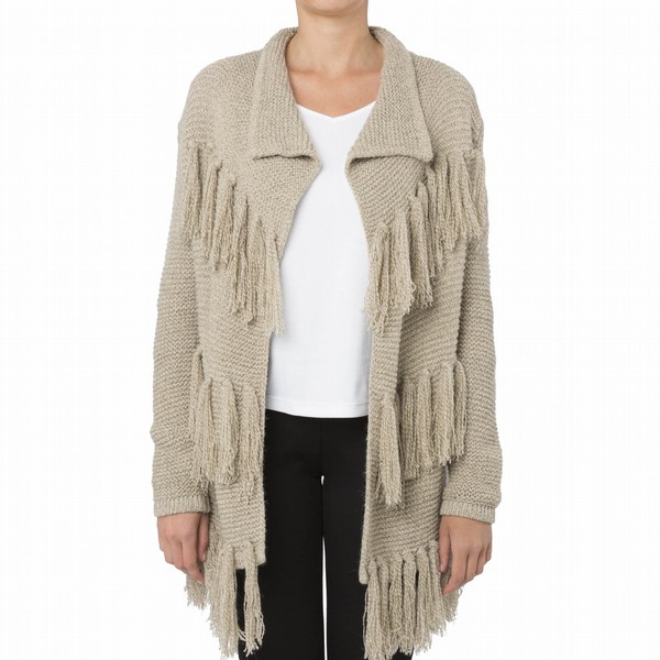 FRINGED CARDIGAN