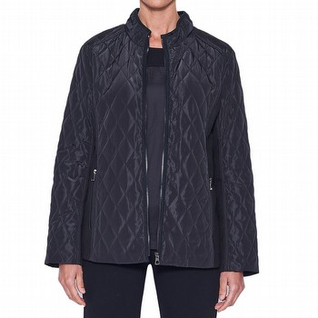 Now there is a little chill in the air, you can cosy yourself with this quilted                                                                                  puffa jacket. Featuring a flattering diamond shaped stiyching, an open zipper                                                                                    full lined with side zippered pockets, this long sleeve jacket has the added                                                                                     quaity of rib knit arm panels, and a short stand up collar, providing                                                                                            additional warmth and protection.