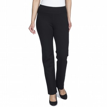 Update for style and comfort in the Trouser Leg Ponti Pant by Threadz. In a                                                                                      super comfortable mid weight stretch this pull on pant features the powerful                                                                                     mesh liner at the waist for proven tummy control. This classic nylon blend pant                                                                                  is perfect for any casual or dressy occasion, or the office.