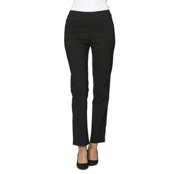 The Bengalene Pull on Pant by Threadz is your go to for comfort and style!                                                                                       In a mid weight stretch bengalene this full length pant features a powerful                                                                                      front mesh liner providing super tummy control and a straight leg fit.                                                                                           Extremely versatile it can be worn for everyday wear, office wear or evening                                                                                     wear. Available in colours dark red, navy, charcoal and taupe on SALE.                                                                                           Black colourway is available instore only but is not on sale.                                                                                                    Models wear Size S and stand 178cm and 180cm tall.