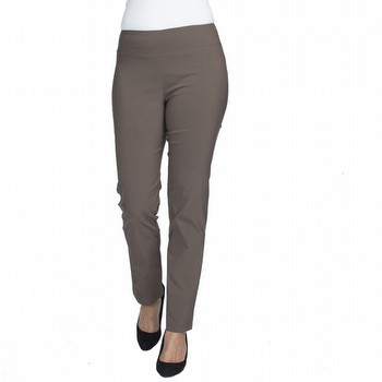 The Bengalene Pull on Pant by Threadz is your go to for comfort and style!                                                                                       In a mid weight stretch bengalene this full length pant features a powerful                                                                                      front mesh liner providing super tummy control and a straight leg fit.                                                                                           Extremely versatile it can be worn for everyday wear, office wear or evening                                                                                     wear. Available in colours dark red, navy, charcoal, taupe and black.
