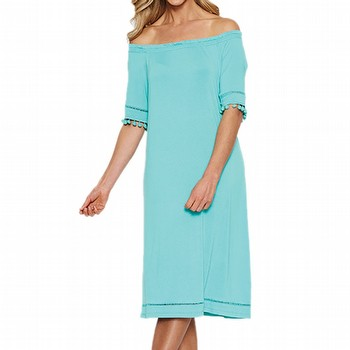 Bobble Trim Jersey Dress | Tuggl
