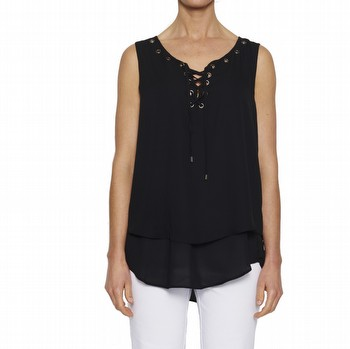 Sleeveless Eyelet Top