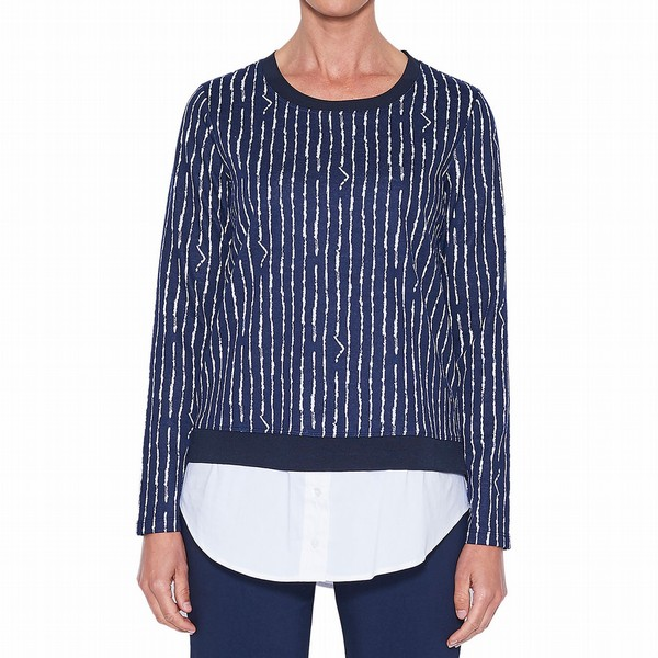 STRIPE 2 in 1 SWEATER