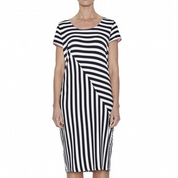 Spliced Stripe Jersey Dress