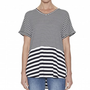 Spliced Jersey Stripe Top