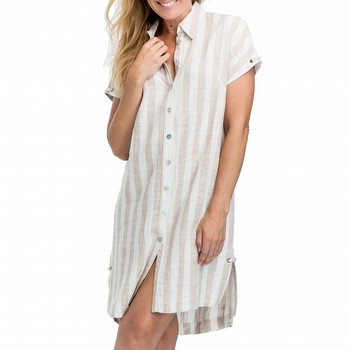Stripe Linen Shirtdress