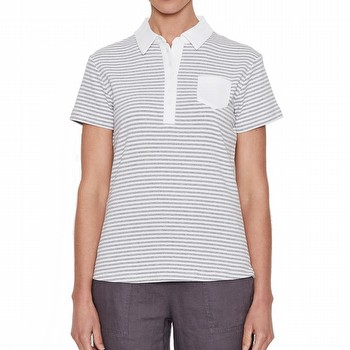 STRIPE POLO SHIRT TOP