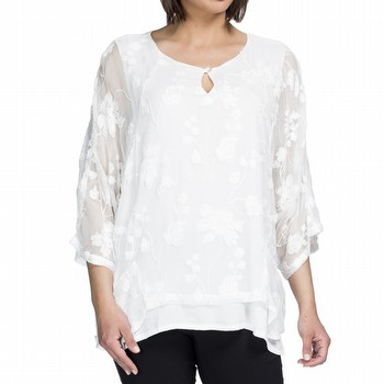 EMBROIDERED OVERLAY TOP