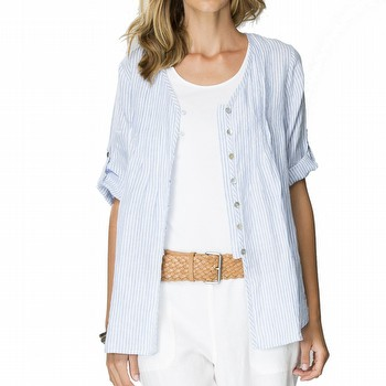 Stripe Linen Tunic Shirt