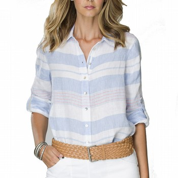 Multi Stripe Linen Shirt