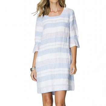 Multi Stripe Linen Dress