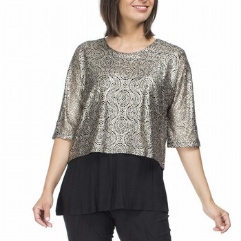 Bronze Layered Top