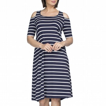 Cold Shoulder Stripe Dress