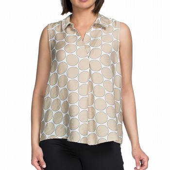 Spot Print Sleeveless Shirt