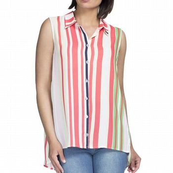 Stripe Sleeveless Shirt