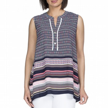 Sleeveless Print Top