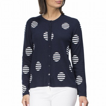 Striped Spot Cardigan