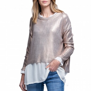 Metallic Rose Gold Knit