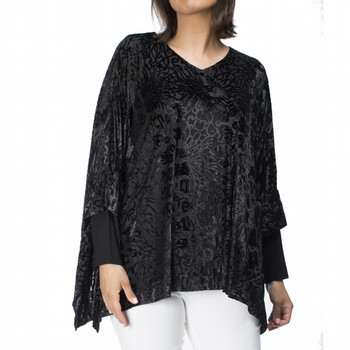 Velvet Oversize Burn-Out Top
