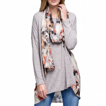 Luxe Print Detachable Scarf Top