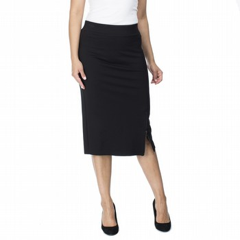 Stretch Ponte Zip Pencil Skirt