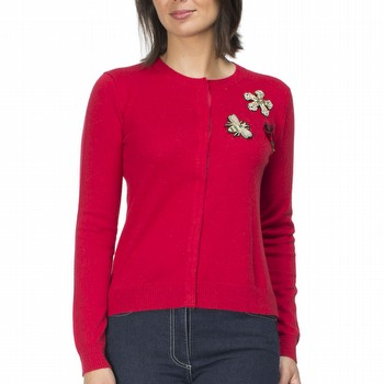 The Applique Cardigan by Gordon Smith is a quality fine gauge wool                                                                                               blend cardigan featuring stunning embellishments on the front.                                                                                                   With a ribbed round neckline and a covered snap closure front this long sleeve                                                                                   cardigan is a classic straight fit style perfect to wear over a singlet as a                                                                                     top or open over shirts and tees. Easily worn for work, weekends or casual                                                                                       evenings out this lovely cardigan is available in red or a sky blue.                                                                                             Models wear Size S and stands 178cm and 175cm respectively.