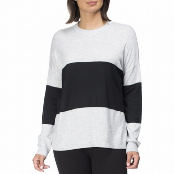 Cashmere Blend Block Stripe Knit