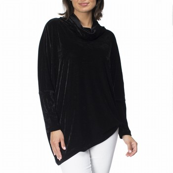 Velvet Cowl Neck Tunic