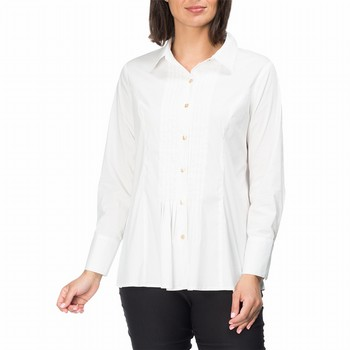 White Pintuck Shirt