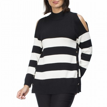 Cold Shoulder Polo Knit