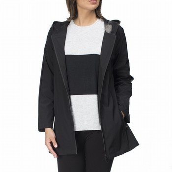 The Urban Sport Jacket by Hammock & Vine is your go to for                                                                                                       comfort and style. In a mid weight black nylon this easy care jacket                                                                                             features luxe stripe detailing on sleeves, an open front zip, a lined hood, and                                                                                  is fully lined in a soft printed jersey. With a slight A line shape this handy                                                                                   jacket also features zip front pockets and a hem finishing mid thigh on most.                                                                                    Models wear Size S and stand 178 and 180cm tall respectively.