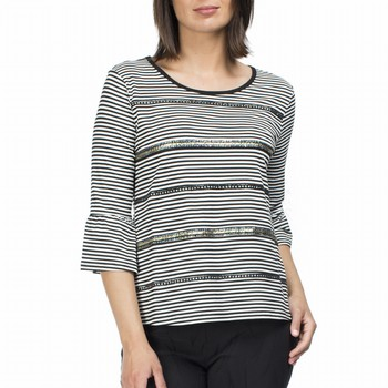 Stripe Sequin Detail Tee