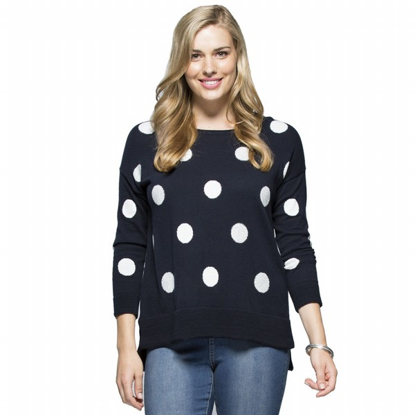 Wool Spot Embellished Knit