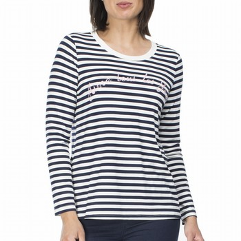 Stripe Embroidered Tee
