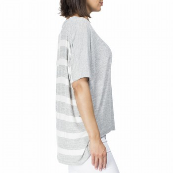Striped Back Knit Top