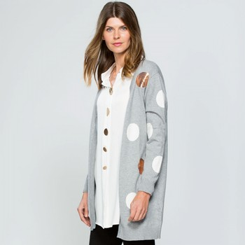 Sequin Spot Cotton & Wool Cardigan