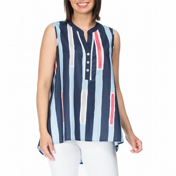 Sleeveless Stripe Shirt