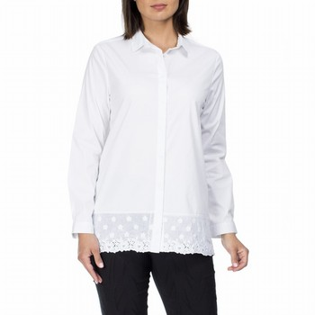 Embroidered Hem Tunic Shirt