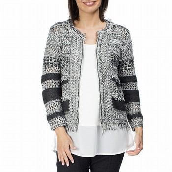 Fringed Zip Cardigan Jacket