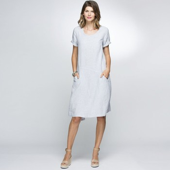 Mini Check Linen Dress