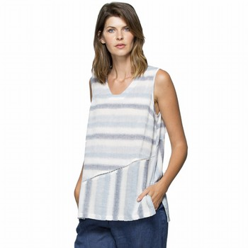 Spliced Stripe Linen Top
